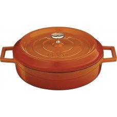Кастрюля чугунная низкая LAVA 3,4л (d=28см) оранжевая, Артикул: LV Y ST 28 K2 ORANGE, Производитель: LAVA (Турция)