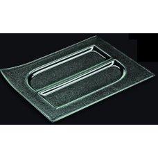 Блюдо 2-х cекционное из прозрачного стекла 3D GLASSWARE 300*230мм