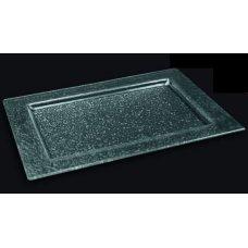 Блюдо из прозрачного стекла 3D GLASSWARE 400*300мм