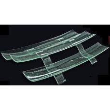 Этажерка 2-х ярусная из прозрачного стекла 3D GLASSWARE 560*110мм