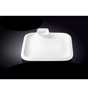Блюдо квадратное с соусником Wilmax 310*310мм, Артикул: 992655, Производитель: Wilmax (Англия)