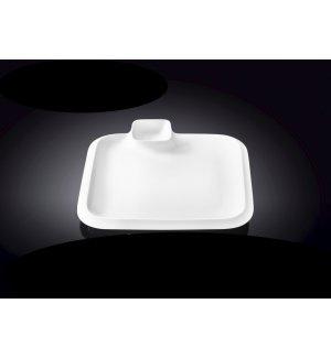 Блюдо квадратное с соусником Wilmax 200*200мм , Артикул: 992653, Производитель: Wilmax (Англия)