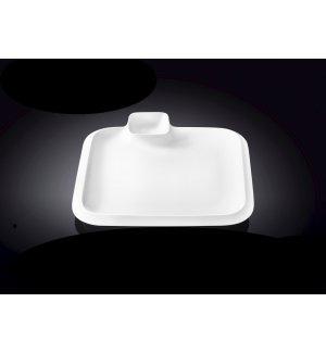 Блюдо квадратное с соусником Wilmax 260*260мм, Артикул: 992654, Производитель: Wilmax (Англия)