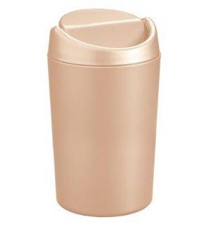 Ведерко для мусора настольное из полипропилена, бежевое 1,25л, Артикул: 431201107, Производитель: Рестола (Россия)