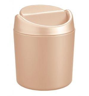 Ведерко для мусора настольное из полипропилена, бежевое 0,75л, Артикул: 431201007, Производитель: Рестола (Россия)