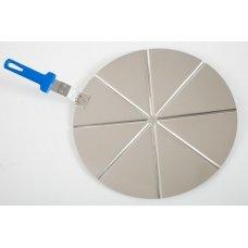 Поднос для пиццы с делениями на 8 сегментов Gimetal d=45см, Артикул: AC-PCPT45, Производитель: GI.METAL (Италия)
