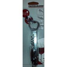 Нарзанник одноступенчатый 3-х функциональный с обрезателем фольги FM, Артикул: 49802, Производитель: Fackelmann (Германия)