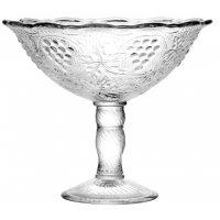 Стеклянная ваза для фруктов плоская Неман d=195мм, h=170мм