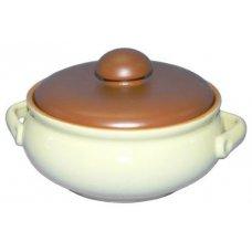 Горшок для тушения/запекания желто-коричневый Беларусь 1л, Артикул: 3674, Производитель: Белхудожкерамика (Беларусь)
