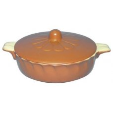 Крышка для сковородки желто-коричневая Беларусь, Артикул: 3265, Производитель: Белхудожкерамика (Беларусь)
